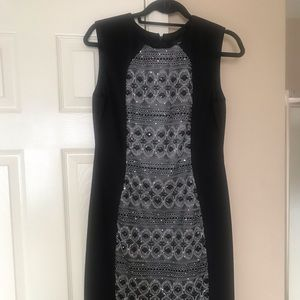 Silver & black dress, size large